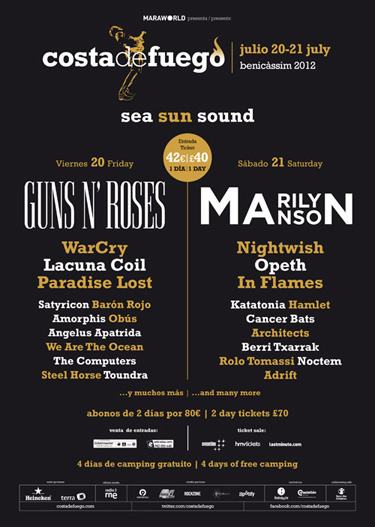 Festival Costa de fuego (Jevicassim) 20y21 Julio GNR y Marilyn Manson - Página 7 Costafuego