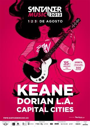Keane, primer cabeza de cartel del Santander Music 2013