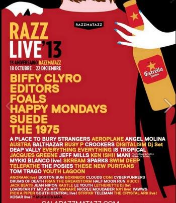 Cartel completo del 13º aniversario de Razzmatazz