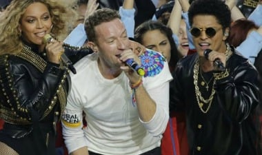Los 13 minutos de Coldplay en la Super Bowl
