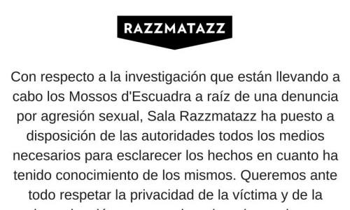 Los Mossos investigan una presunta agresión sexual múltiple en la sala Razzmatazz